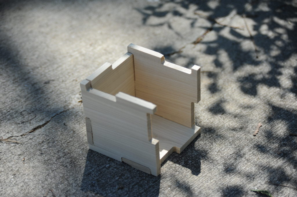 poplar interlocking panel box (partial)